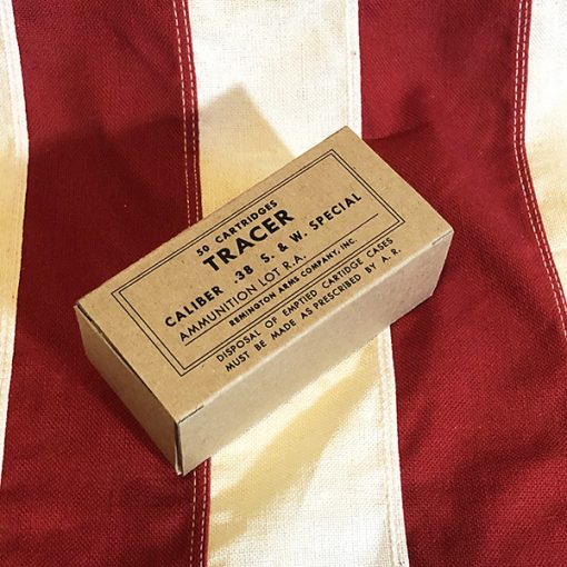 WWII 38 Caliber Tracer 50 Cartridge Box Reproduction WW2
