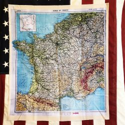 WWII Invasion Map of France DDay WWII WW2