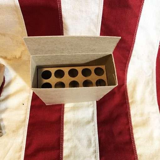 WWII 10 DUMMY Cartridge Box insert inside WW2