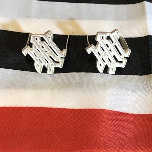 WWII German Army SS Silver LAH Shoulder Board Cyphers