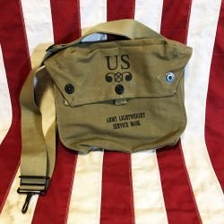 WWII Lightweight Gas Mask Bag Reproduction WW2