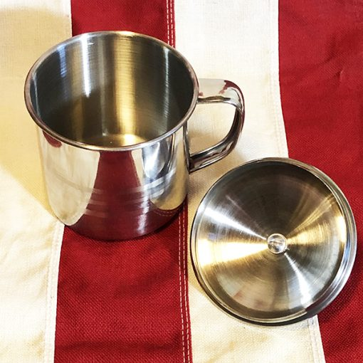 WWII Stainless Steel Cup with LId WW2