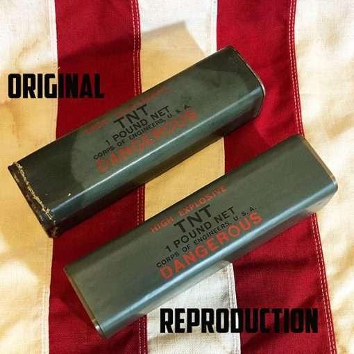 WWII One Pound TNT Original vs Reproduction WW2