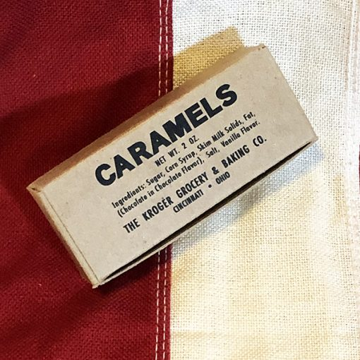 WWII Chocolate Caramel Ration WW2 Reproduction Box