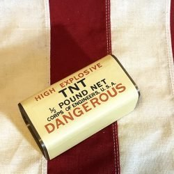 WWII Half Pound TNT Block Reproduction WW2