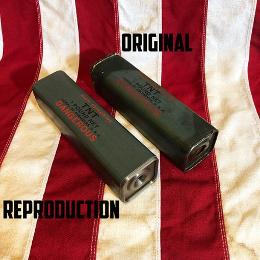 WWII 1 Pound TNT with Cap WW2 Original vs Reproduction