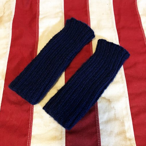 WWII USN Navy Blue Wristlets WW2 Reproduction