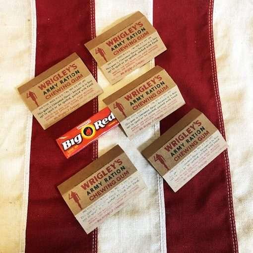 WWII Wrigleys Army Ration Gum WW2 reproduction