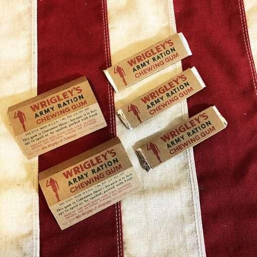 WWII Wrigleys Army Gum WW2 Reproduction