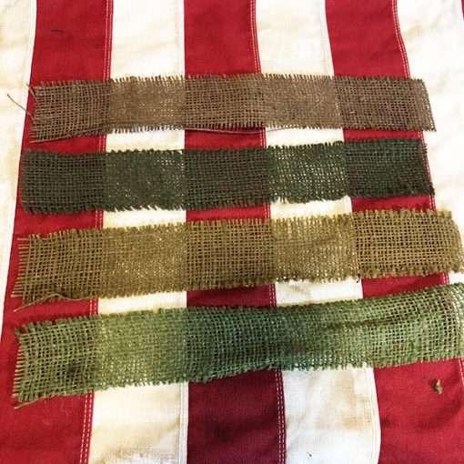 WWII Burlap Scrim Strip NOS New Old Stock WW2