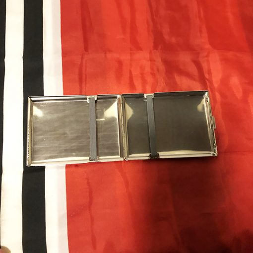 WWII Leipzig German Cigarette Case WW2 Reproduction Inside View