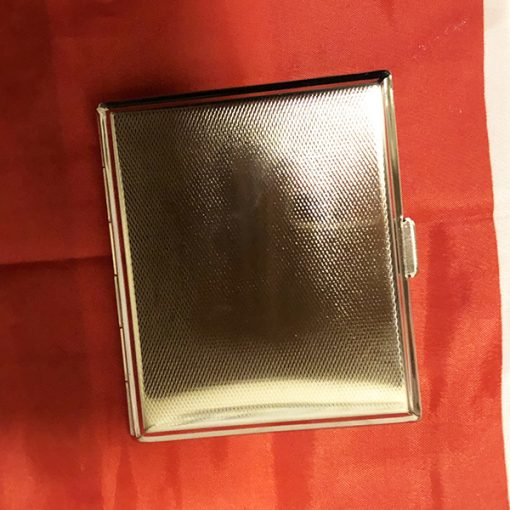 WWII Prague German Cigarette Case WW2 Reproduction Back View