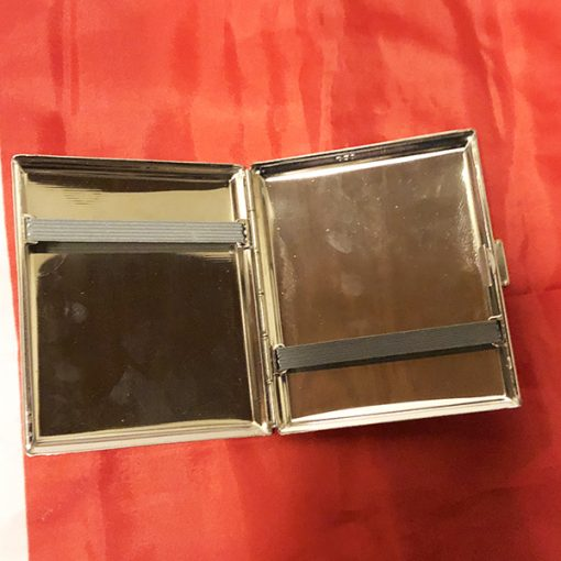WWII Prague German Cigarette Case WW2 Reproduction Inside View