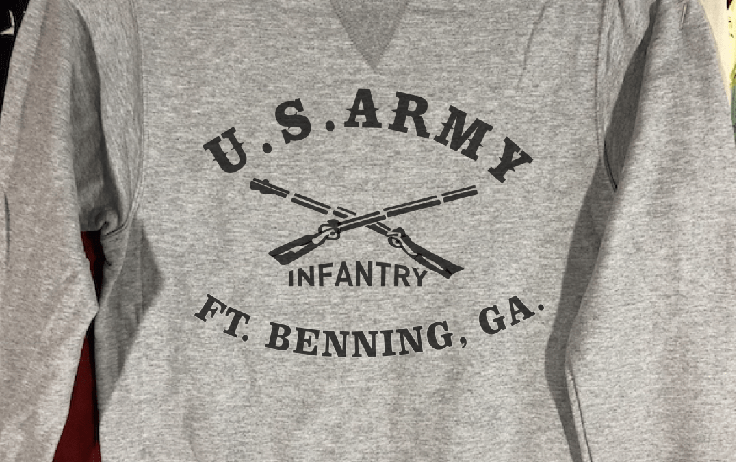 Fort Benning Infantry Sweatshirt with V notch, WWII Reproduction