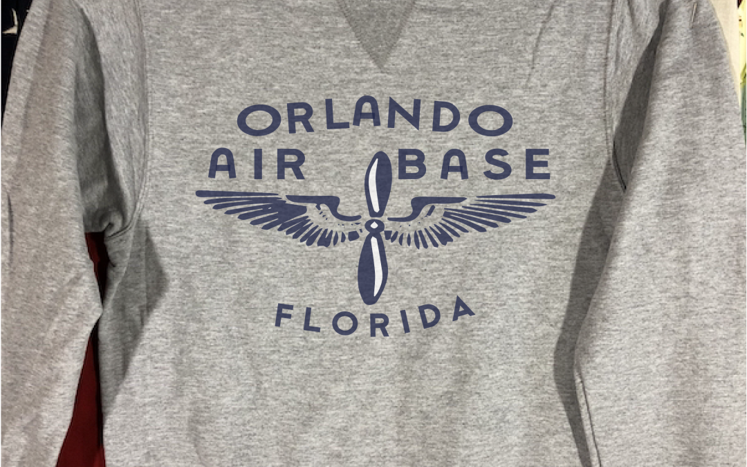 Orlando Air Base Sweatshirt with V notch, WWII Reproduction