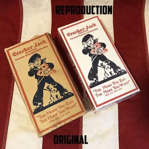 1930's Cracker Jack Box Boy Original vs Reproduction