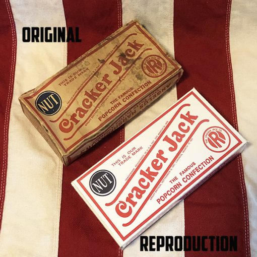 1930's Cracker Jack Box original vs reproduction