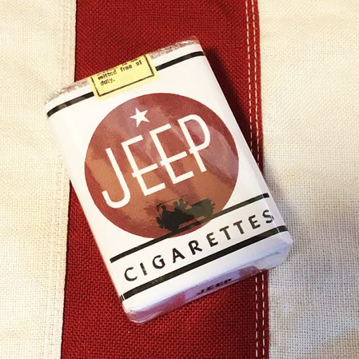WWII Jeep Cigarette Pack Reproduction WW2